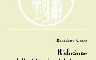 Riduzione della filosofia del diritto alla filosofia dell'economia di Benedetto Croce – Presentazione