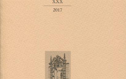 """È apparso il volume XXX degli """"Annali"""" dell'Istituto."""