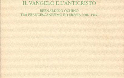 """Pubblicazione del volume di M. Camaioni, Il Vangelo e l'Anticristo, nella collana """"Monografie"""" dell'Istituto"""