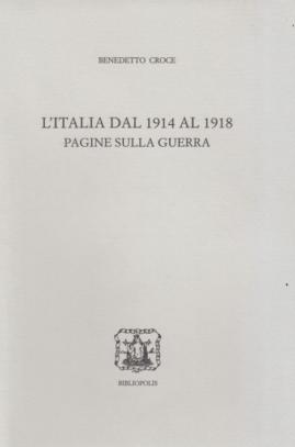 Roma, mercoledì 5 febbraio: presentazione delle Pagine sulla guerra di Benedetto Croce