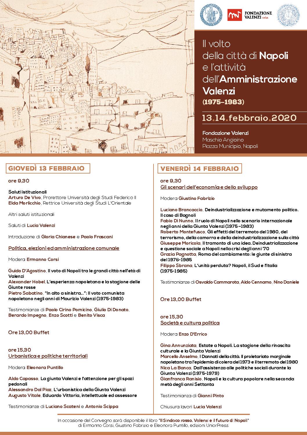 Il volto della città di Napoli e l'attività dell'Amministrazione Valenzi (1975–1983) -Napoli 13.14.febbraio – Fondazione Valenzi
