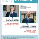 """Martedì 25 maggio online alle 17.30 """"Diritto e Tecnica"""" con Natalino Irti e Luciano Floridi"""