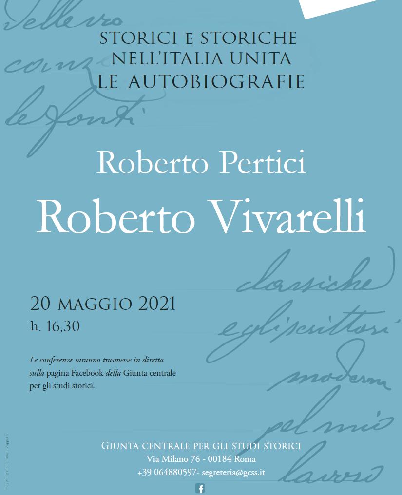 Conferenza di Roberto Pertici, diretta Facebook giovedì 20 maggio